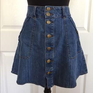 Denim button up skirt forever 21